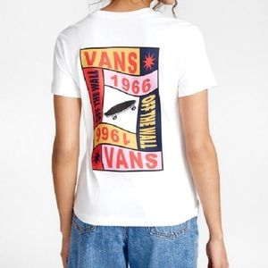 NWT Vans Embraced Graphic White Tee Shirt